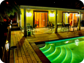 Pool and Lighting work carried out in Antigua